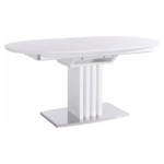 Canasta Dining table White High Gloss