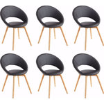 Oregon chair 6 pack - black