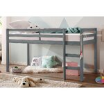 Gray solid wood bunk bed single (alpine) (in box, whole)