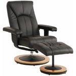 Black swivel full-body armchair in a row