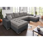 Gray corner sofa bed