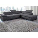 Tamsiai pilka didelė kampinė sofa (Valentino)