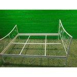 Plačiau baltos metalinės lovos rėmelis 140x200
