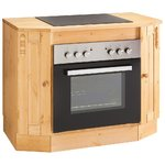 Light brown solid wood stove (sylt)