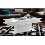 Белый глянцевый диванный столик (с недостатками красоты, образец зала)