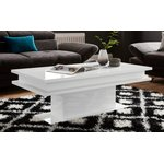 White high-gloss sofa table