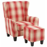 Spicy Armchair Fabric - red