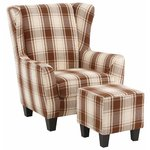 Spicy Armchair Fabric-brown/beige