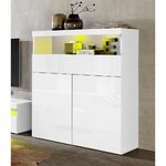 White high gloss chest of drawers (potenz)