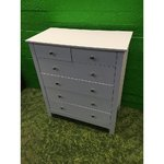 White chest of drawers with 6 drawers