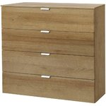 Brown 4 drawer drawer (width 80cm) (full, box)