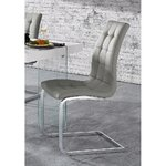 Light gray metal legs chair (in box, whole)