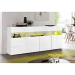 White high gloss chest (width 173cm) (with bugs)