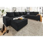 Black corner sofa (with beauty flaws)