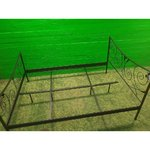 For Metallic Black Bed Frame 140x200