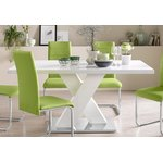 White High Gloss Dining Table (Box, Whole)
