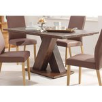 Dark moon dining table made of acacia wood (milas) (width 160cm)