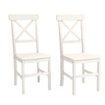 Nicoline Chair 2 pack-White/lacquer