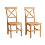 Nicoline Chair 2 pack - Stain/wax