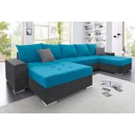 Blue-anthracite sofa bed (with beauty defects, in box)