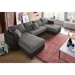 Pilka kampinė sofa