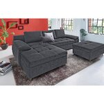 Dark gray corner sofa (labene)