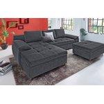 Tamsiai pilka kampinė sofa (labene)