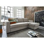 Light gray corner sofa (atlantic) (in box, with beauty defects)
