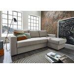 Šviesiai pilka kampinė sofa (atlantinė)