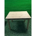 Solid wood dining table with 2 drawers