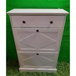 White solid wood shoe cabinet