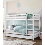 Solid wood white bunk bed (alpine)