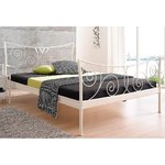 White metal bed (princess) (180x200cm)
