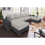 Pilka kampinė sofa (visa, dėžutėje)