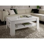 White coffee table with shelf (trendteam) (whole, in box)