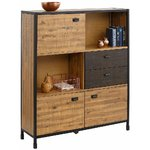 Brown-black solid wood cabinet