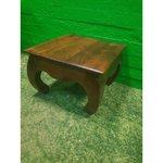 Небольшой диван-стол с коричневой массивной древесиной