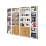 Bailey Wall unit glass door-White/Lacquer