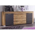 Brown-gray dresser (boom) (hall sample, with beauty flaws)