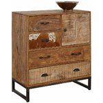 Brown solid wood cabinet (naresh)