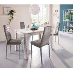 Valkoinen vaaleanruskea ruokapöytä (lynn)