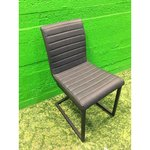 Soft dark gray chair