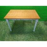 """""""Brown-White"""" medžio masyvo stalas su 2 stalčiais"""