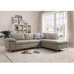 Šviesiai pilka kampinė sofa (atlantinė) (dėžutė, visa)