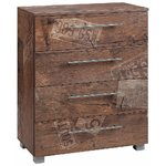 Dark brown chest of drawers with 4 drawers