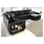 Black corner sofa (whole, in box)