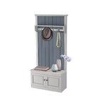 Monroe Compact wardrobe - White/Grey