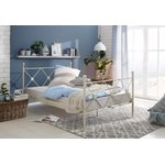 White metal bed (90x200cm) (jenny) (whole, in box)