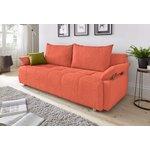 Оранжевый диван-кровать (грязный)