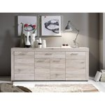 Light brown wide chest of drawers with 4 doors and 1 drawer (fiesta) (with beauty defects, in box)